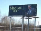 Weird George W Bush Billboard in Minnesota