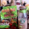 BevNerd Reviews Starbucks Mint Mocha Frappuccino & Haribo Twin Cherries!