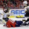 Washington Capitals overcome 3-0 deficit to beat Boston Bruins 4-3 on Fehr's game-winner in OT