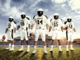 Naval Academy Scores with Summer Whites Under Armor Uniform