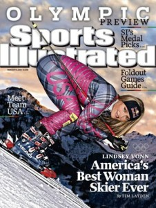 Lindsey Vonn on the cover of Sports Illustrated
