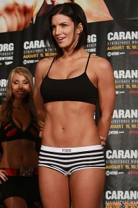 Gina Carano - stripped down for a pre-fight weigh-in