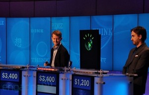 "Still from a practice round involving ""Watson"" and Ken Jennings"