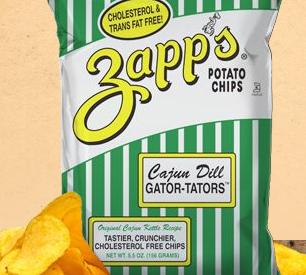 Zapps Cajun Dill Gator Tator Chips Guysnation