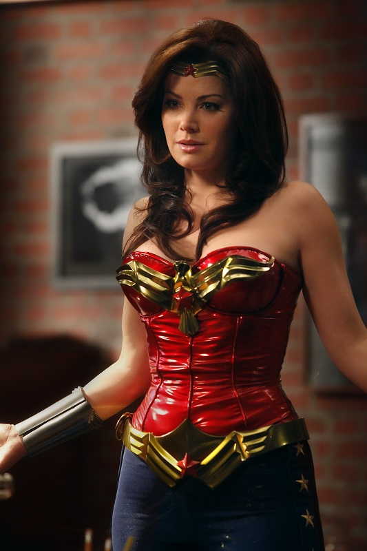 Erica Durance as Wonder Woman on Harry's Law
