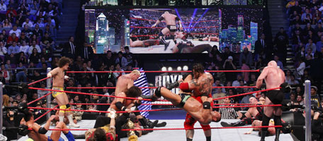 A Royal Rumble Match