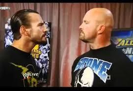 CM Punk confronts Stone Cold Steve Austin