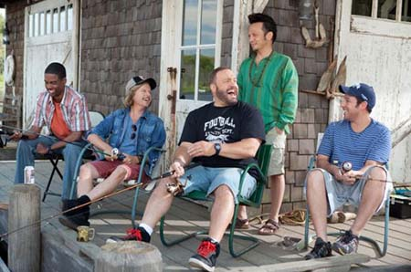 Adam Sandler and friends in Grown Ups
