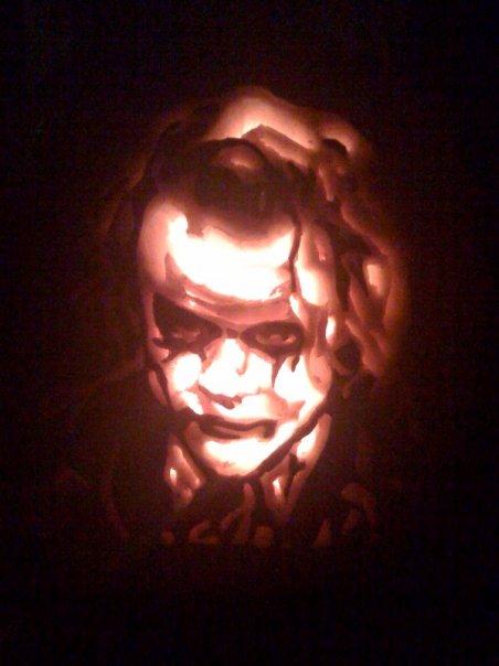 The Joker pumpkin