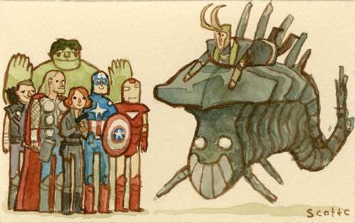 great showdowns Avengers by scott campbell