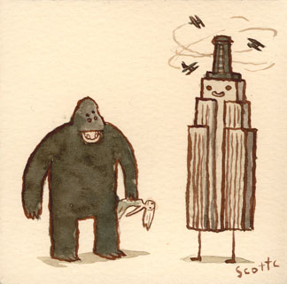 great showdowns king kong by scott campbell