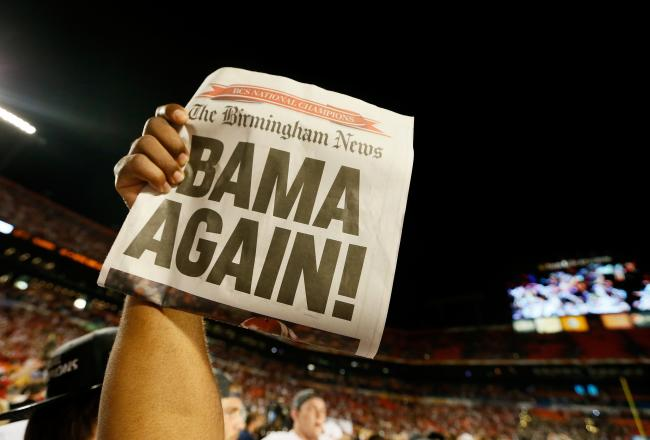 This is pretty much the reason Bama is ranked #1. Photo by Kevin C Cox/Getty Images