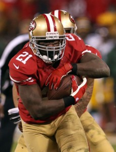 RATED RB FOR GORE: In a year where the 49ers backfield became a flash mob talent, Frank Gore stayed healthy and stayed strong all season. Photo courtesy Stephen Dunn/Getty Images