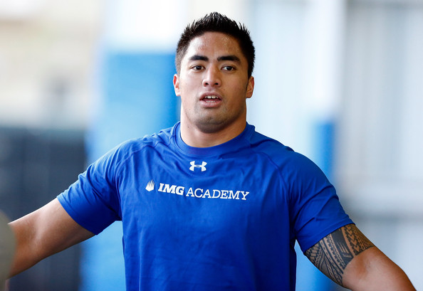 IMAGE ACADEMY: In the last month, we've practically forgotten Manti Te'o plays football (pretty well, too). Now, at the combine, is his time to remind us of that. Photo courtesy J. Meric/Getty Images