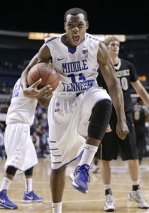 RAIDER HATER: Does it sound like I'm saying MTSU doesn't deserve to be in the tournament? Good, then I'm communicating effectively. Photo courtesy Mark Humphrey/AP