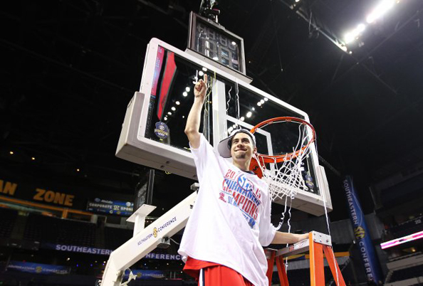 LADDERS, NO BUBBLES: Marshall Henderson and Ole Miss took the chance out of their destiny and punched their ticket through to the big dance with the SEC championship. Photo courtesy Andy Lyons/Getty Images