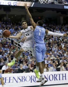 ON THEIR 'HEELS: Okay, so the ACC isn't what they used to be. But they're not as weak as the committee made them out to be with their seeding. Photo courtesy Gerry Broome/AP