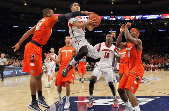 DE-SIVA: Louisville looked like a team in trouble in the first half of the Big East Championship. Yeah, right. Photo courtesy Ray Stubblebine/Reuters