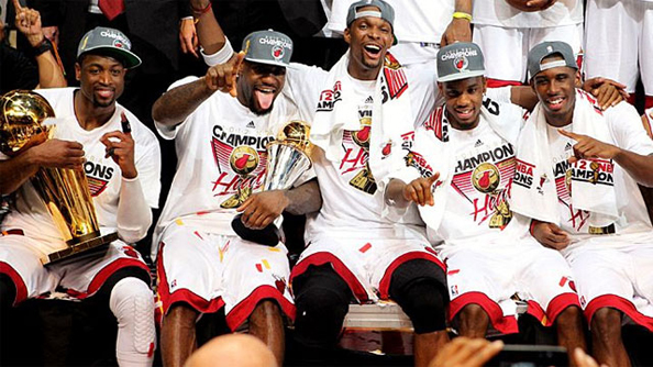 CAN'T BEAT THE HEAT: Can the Heat repeat? With a better team and a championship experience, we're thinking yes. Photo courtesy ESPN