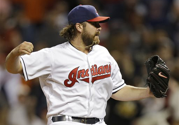 CHIEF OF CLEVELAND: Chris Perez and the Indians are on a tear, but they'll have to keep it up if they want to even sniff October. Photo courtesy Mark Duncan/AP.