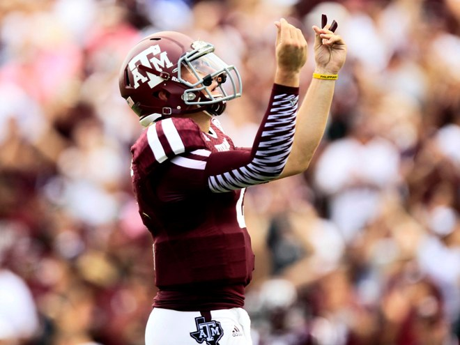 Manziel seemingly didn't learn from his 'suspension'. Photo by Thomas Campbell/USA TODAY Sports