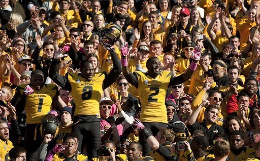 Mizzou and its fans certainly have something to celebrate after another big win. Photo by LG Patterson/AP Photo