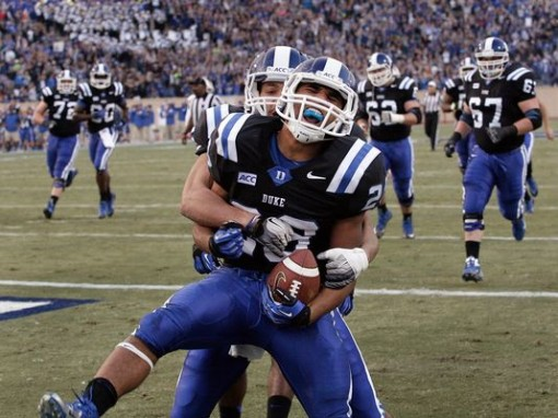 Duke has plenty to celebrate after beating Miami, they're now atop the ACC Coastal division. Photo by Mark Dolejs/USA TODAY Sports