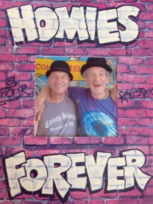 They solidify their friendship on Coney Island.