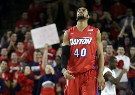 FLYER HIGH: Things are looking up for Dayton after a big win on the road to #17 St. Louis. (Photo courtesy Dean Hoffmeyer/AP)