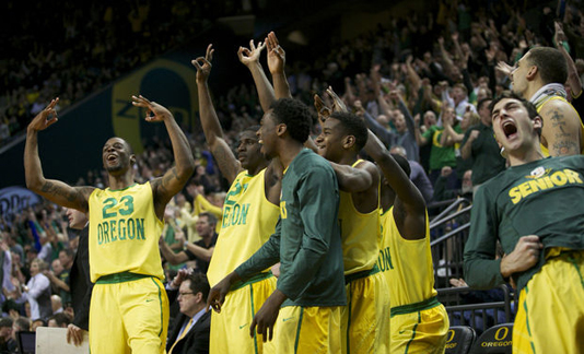 GAME DUCKS: With a big win over Arizona, we can almost safely move Oregon off the bubble. Almost. (Photo courtesy: Randy L. Rasmussen/The Oregonian)