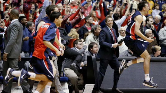 BRUIN UP A STORM: Belmont is the first team to punch its ticket to the big dance, taking down #25 Murray State in the Ohio Valley Conference finals. Photo courtesy AP