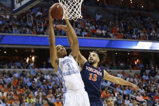 ONE HELL UVA GAME: Despite a close-knit battle, top-seeded Virginia was upset by UNC in the ACC Championship. Photo courtesy Geoff Burke/USA TODAY Sports