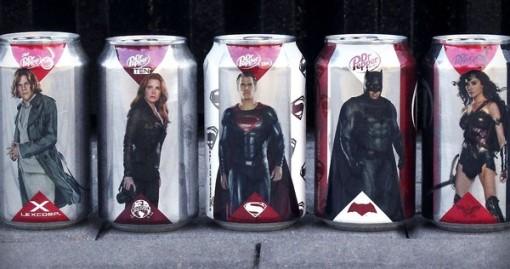 Dr Pepper Cans Batman Superman