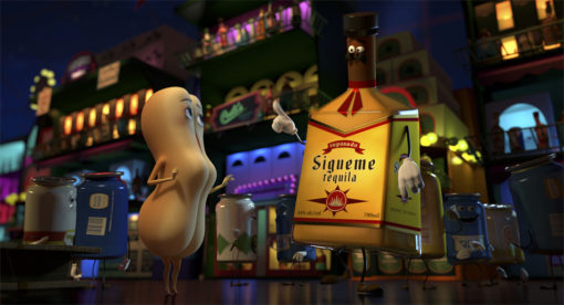 Brenda (Kristen Wiig) and Tequila (Bill Hader) in Columbia Pictures' SAUSAGE PARTY.