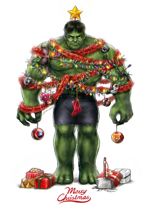 Merry Hulkmas! by SpiderWee