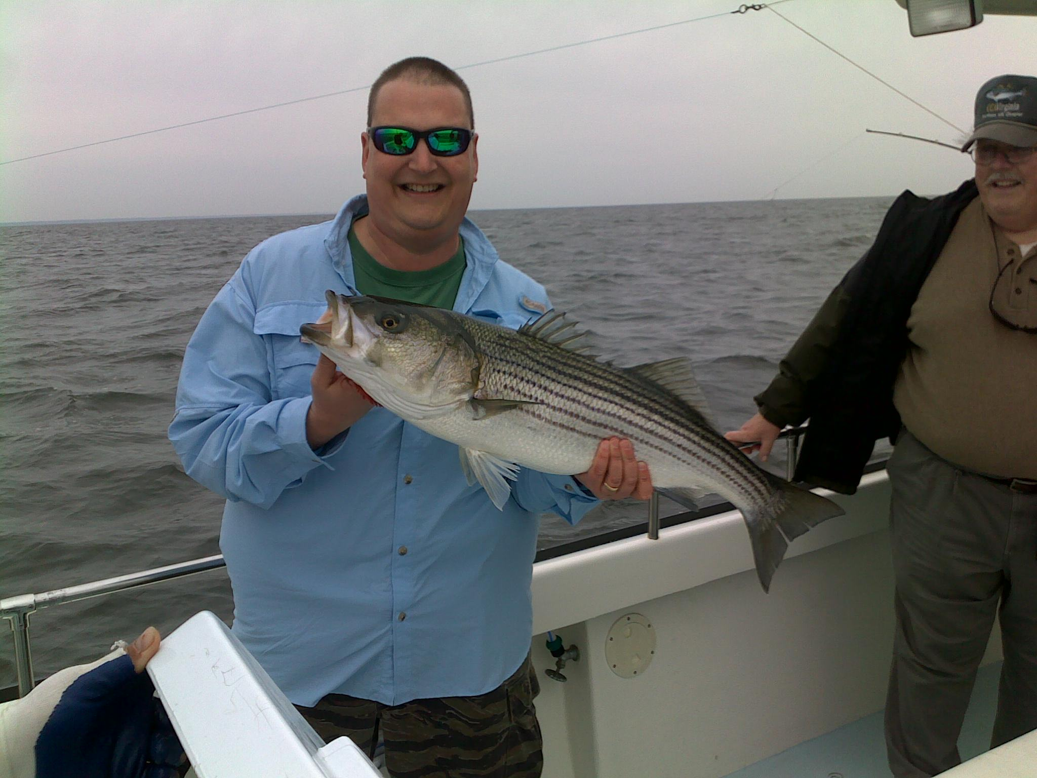 Striper fishing trip chesapeake bay guysnation for Chesapeake bay striper fishing